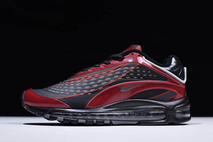2018 Men and Wmns Nike Air Max 97 OG Pure PlatinumUniversity Red White Shoes